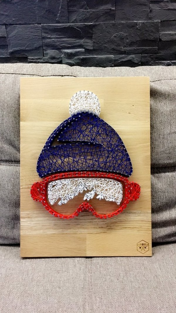 Tableau Bonnet string art